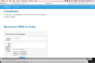CubaQuery - Connecting Cuba via SMS and Email