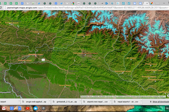 Nepal Airports ESRI Map aap