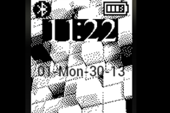 Pebble Cubed watch face