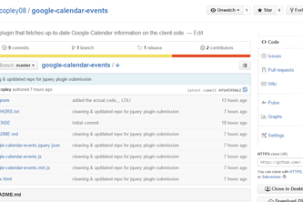 google-calendar-events (jQuery Plugin)