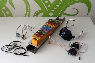 Robotic xylophone and EEG