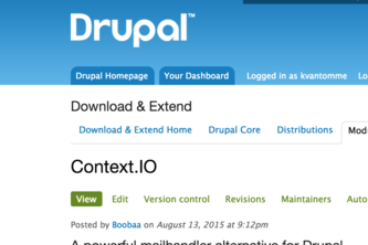 Context.IO for Drupal & Maildispenser.com