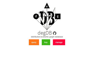 degDB (Distributed Economic Graph Database)