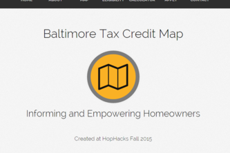 Baltimore Tax Credit Map