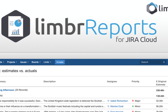 Limbr Reports for JIRA Cloud