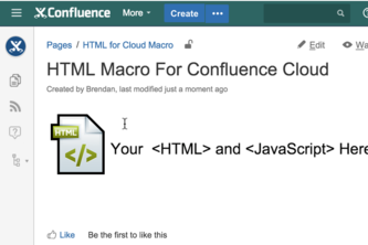 HTML Macro for Confluence Cloud
