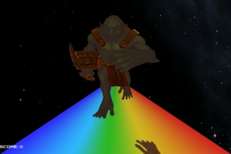Escape the Troll on the Rainbow!
