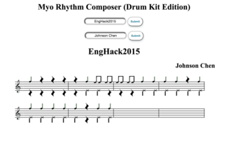 Myo Rhythm Composer (Drum Kit Edition)