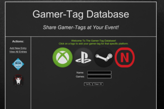 Gamer-Tag Database: Share Gamer-Tags at Your Event!