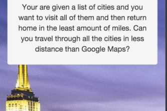 Google Maps Travelling Challenge