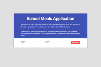 E.A.T School Lunch UX Challenge