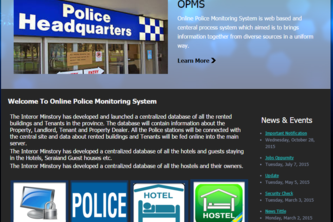 Online Police Monitoring System