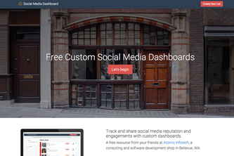 Social Media Dashboard by Atomic Infotech