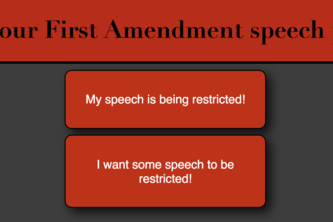 First Amendment Speech Flowchart