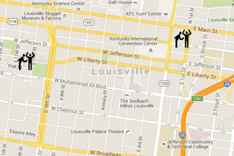 Louisville Hate Crime Map