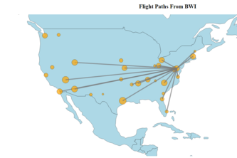 Visualizing Flight Paths of US Airports