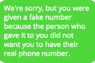 The Fake Number Club