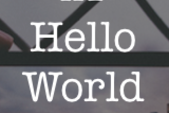 <h1>Hello World</h1>