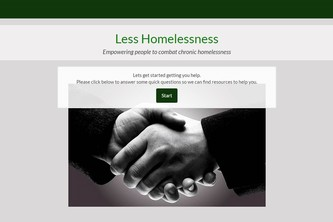 Less Homelessness by Monkeys In Disguise