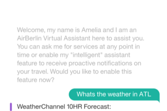 Amelia - An AirBerlin Enterprise Chat Assistant