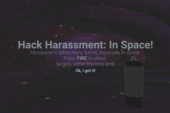 Hack Harassment: In Space!