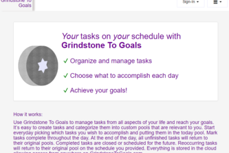 Grindstone To Goals