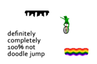 definitely, completely, 100% not doodle jump (12C)