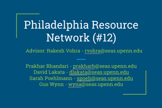 Team 12: Philadelphia Resource Network