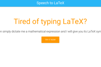 Speech-to-LaTeX
