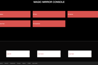 Magic Mirror Console