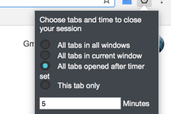 Timer Extension for Google Chrome
