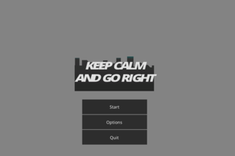 Keep calm and go right