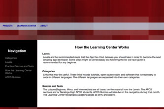 App Dev Learning Center