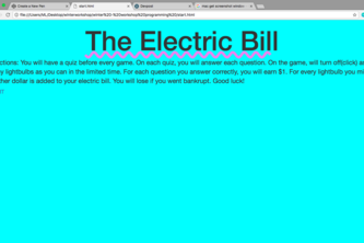 Team 10 The Electric Bill
