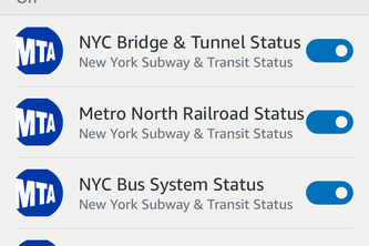 NYC Subway & Transit Status Flash Briefing