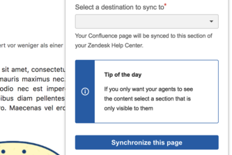Zendesk Knowledge Sync for Confluence