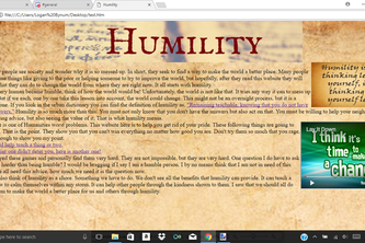 Humility Website