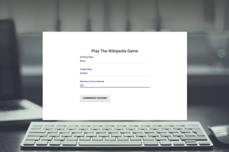 Wikipedia Game Bot