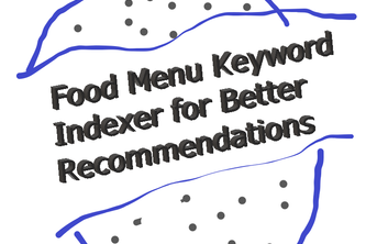 Food Menu Keyword Indexer for Better Recommendations