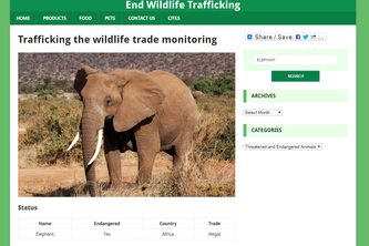 End Wildlife Trafficking website