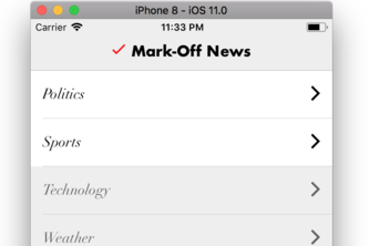Mark-off News
