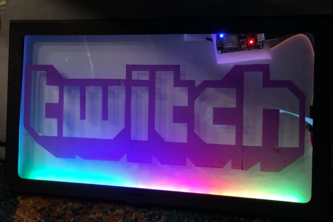 Dynamic Twitch Stream LED Sign