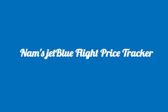 Nam's jetBlue Flight Price Tracker