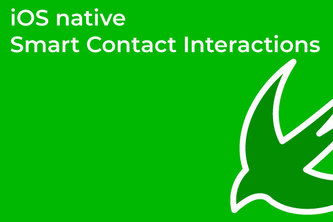iOS native smart contact interactions