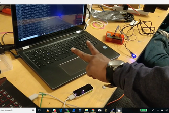 Gesture controlled smart lighting