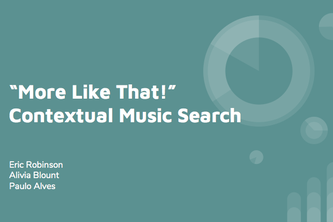 Contextual Music Search