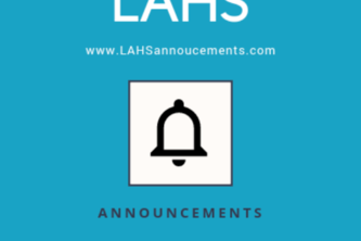 LAHS Announcements