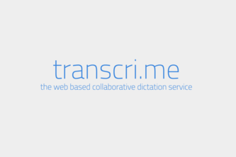 transcri.me - the collaborative dictation platform