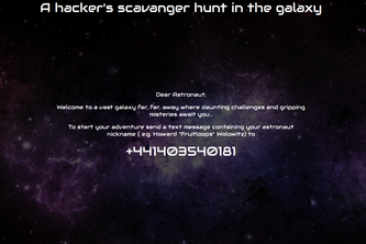 A hacker's scavanger hunt in the galaxy