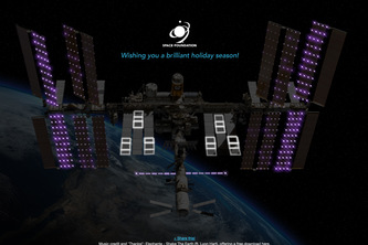 Space Foundation Holiday eCard 2014